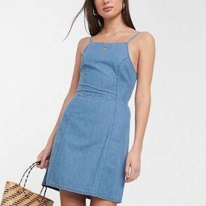 NWT ASOS Design Tall Soft Denim Slip Dress